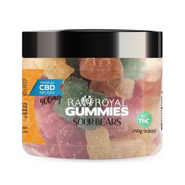 RA Royal 900mg CBD Infused Sour Bear Gummies 12oz - Sour Bears