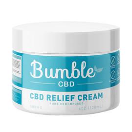 Bumble CBD 500mg Pure CBD Infused Relief Cream 4oz