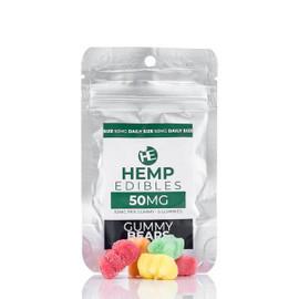 Hempables Hemp Edibles 50mg CBD Gummies Single 5 pack pouch