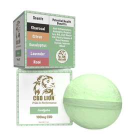 CBD Lion 100mg Bath Bomb - Single Eucalyptus