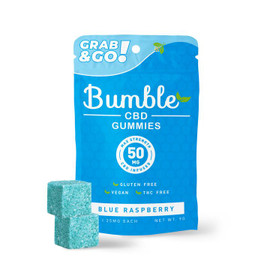 Bumble CBD 50mg CBD Infused Gummies  - Blue Raspberry