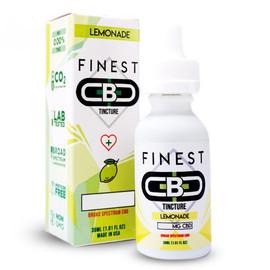 Finest CBD 500mg Broad Spectrum CBD Tincture 30mL - Lemonade