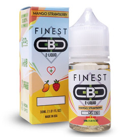 Finest CBD 1000mg Mango Strawberry CBD E-Liquid 30mL