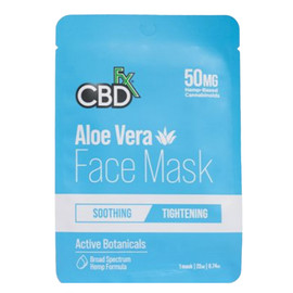 CBDfx 20mg Aloe Vera Hemp Face Mask