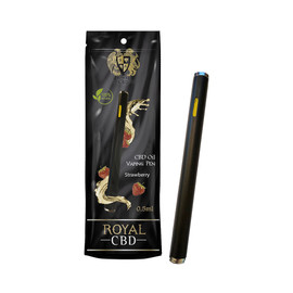 R.A Royal 100mg Disposable CBD Vape Pens 0.5ml - Strawberry