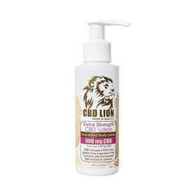 CBD Lion 900mg CBD Infused Extra Strength Unscented Body Lotion