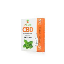 InTune CBD 10mg Broad Spectrum Oral Drops Single 7pcs - Sweet Mint