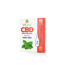 InTune CBD 50mg Broad Spectrum Oral Drops Single 7pcs - Sweet Mint