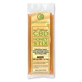 Olivers Harvest 100MG CBD Infused Honey Sticks 7 Count