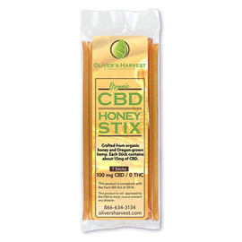 Olivers Harvest 100MG CBD Infused Honey Sticks 7 Count