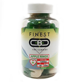 Finest CBD 1200mg CBD Infused Gummies - Apple Rings