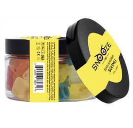 Snooze CBD 500mg CBD Gummies 8oz - Clear Bears,Clear Worms,Rainbow Bites,Watermelon Slices