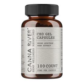 Canna River 25mg Broad Spectrum CBD Gel Capsules - 100ct