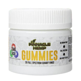 Pinnacle Hemp 200MG Full Spectrum CBD Gummies 20 Count