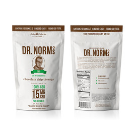 Dr. Norm's 150mg Hemp CBD Infused Cookies - Pack of 10 - Chocolate Chip