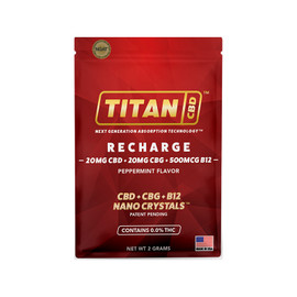 Titan CBD 20mg Broad Spectrum NANO Crystal Delivery System Refills - Display of 15 Packets - Recharge