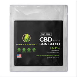 Oliver's Harvest 120MG CBD Infused Pain Patch 3 Count
