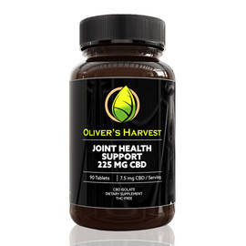Oliver's Harvest 225MG CBD Isolate Joint Health Support Tablets 90 Count