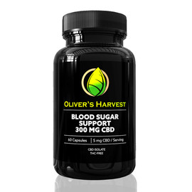Oliver's Harvest 300MG CBD Isolate Blood Sugar Support 60 Count