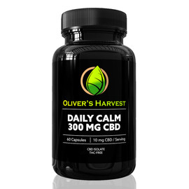 Oliver's Harvest 300MG CBD Isolate Daily Calm Supplement 60 Count