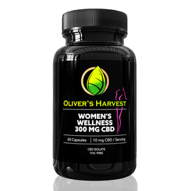 Oliver's Harvest 300MG CBD Isolate Womens Wellness Capsules 60 Count