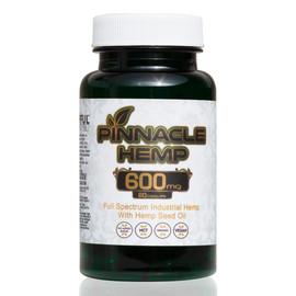 Pinnacle Hemp 600MG Full Spectrum CBD Gel Capsules 60 Count