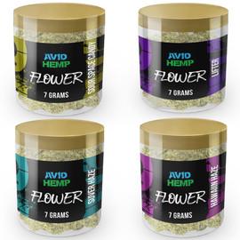 Avid Hemp CBD Flower 7 Gram Jar - Hawaiian Haze,Lifter,Sour Space Candy,Sulver Haze
