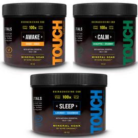 Kore Organic 100MG Isolate CBD Infused Mineral Soak THC Free 16oz - Awake,Calm,Sleep