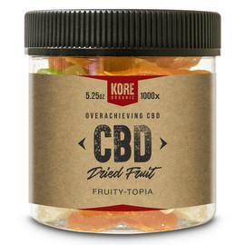 Kore Organic 1000MG Isolate CBD Dried Fruit 5.25oz - Fruity Topia