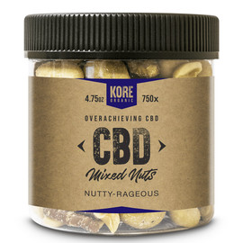 Kore Organic 750MG Isolate CBD Mixed Nuts 4.75oz - Nutty Rageous