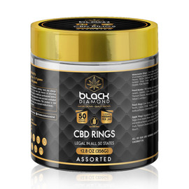 Black Diamond 1000MG CBD Isolate Gummies 50 Count