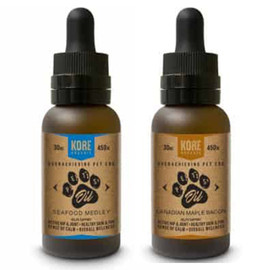 Kore Organic 450MG Isolate CBD Pet Oil Tincture 30ML - Canadian Maple Bacon, Seafood Medley