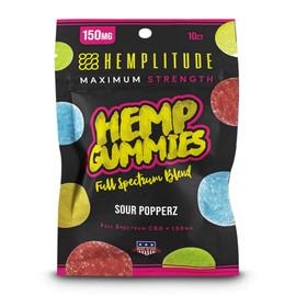 Hemplitude 150MG Full Spectrum CBD Hemp Gummies 10 count - Sour Popperz