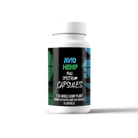 Avid Hemp 7.5 Grams Full Spectrum CBD Capsules 15 Count - 15 Count