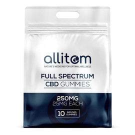 allitom 250MG Full Spectrum CBD Gummies 10 Count