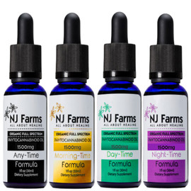 NJ Farms 1500MG Full Spectrum CBD Tincture 30ML - Any Time All Natural,Day Time Mint,Morning Time Citrus,Night Time Lavender