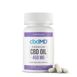 cbdMD 450MG CBD Oil Broad Spectrum Capsules - 30ct