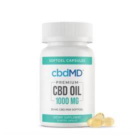 cbdMD 1000MG CBD Oil Broad Spectrum Softgel Capsules - 30ct,60ct