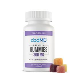 cbdMD 300MG Broad Spectrum CBD Gummies - Tropical Mix