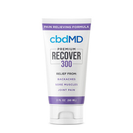 cbdMD 300MG Recover CBD Infused Pain Cream 60ML - Squeeze
