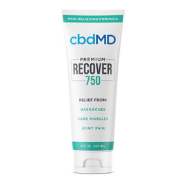 cbdMD 750MG Recover CBD Infused Pain Cream 120ML - Squeeze