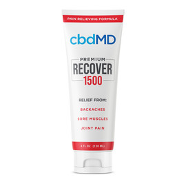 cbdMD 1500MG Recover CBD Infused Pain Cream 120ML - Squeeze