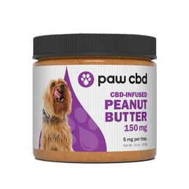 Paw CBD 150mg CBD Infused Peanut Butter Jar 16oz