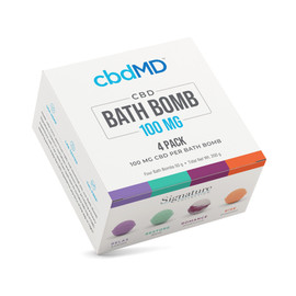 CBDMD 100MG CBD Bath Bomb - Pack of 4 - Relax, Restore, Rise, Romance