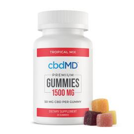 cbdMD 1500MG Broad Spectrum CBD Gummies - 30ct - Tropical Mix