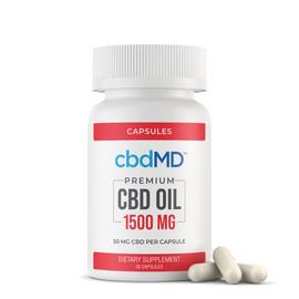 cbdMD 1500MG CBD Oil Broad Spectrum Capsules - 30ct