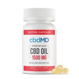 cbdMD 1500MG CBD Oil Broad Spectrum Softgel Capsules - 30ct