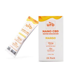 Urb Finest 10mg Nano CBD Water Enhancer 0.18oz - Pack of 24 - Mango