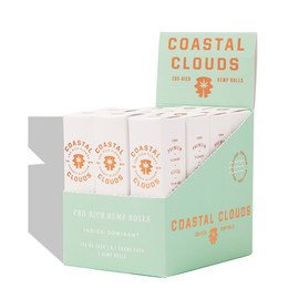 Coastal Clouds CBD-Rich Cherry Blossom Hemp Rolls Display of 12 Packs of 2