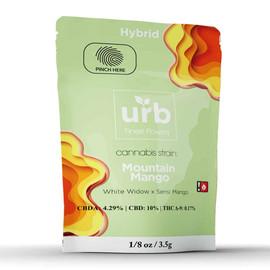 Urb Finest Flowers 3.5G CBD Hemp Flower - Pack of 9 - Mountain Mango